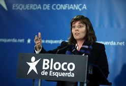 Catarina Martins, líder do Bloco de Esquerda