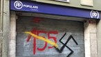 Sede do Partido Popular da Catalunha vandalizada no segundo dia de protestos independentistas